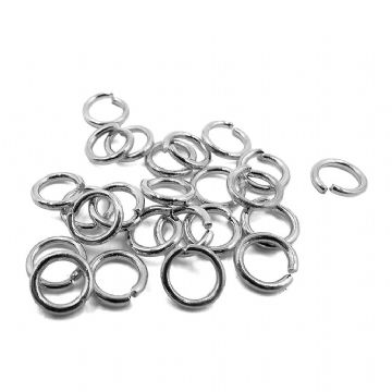 Rhodium Plated Jump Rings 2 Size Options 1mm Gauge 100pcs